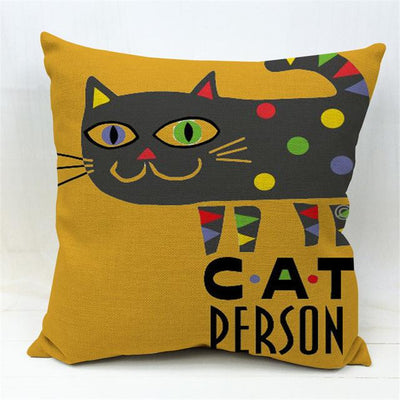 Surreal Cat Pillow Throws - Purrfect Apparel