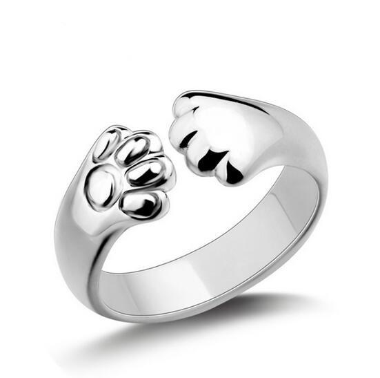 Sterling Silver Cat Paw Ring - Purrfect Apparel