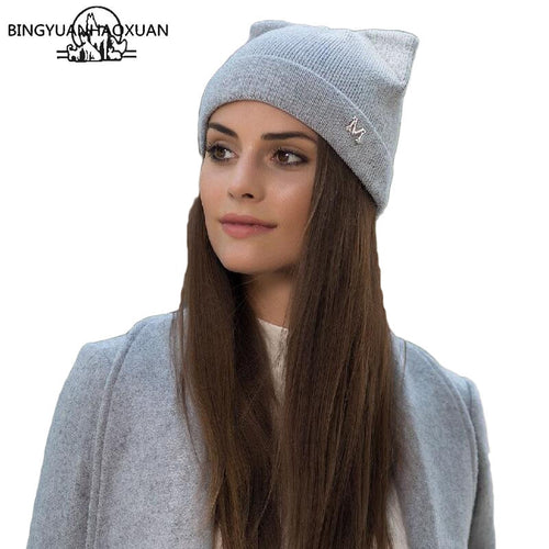 Knitted Cat Beanie - Purrfect Apparel