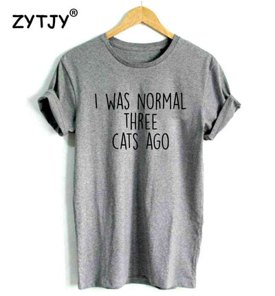 I WAS NORMAL THREE CATS AGO Tee - Purrfect Apparel