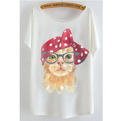 Batwing Sleeve Cat T-Shirt - Purrfect Apparel