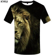 Load image into Gallery viewer, KYKU Tiger T shirt Animal 3d T-shirt Punk Print Shirts Gothic Plus Size Mens Clothing Funny Tshirt Men Short Sleeve Big Slim - Purrfect Apparel