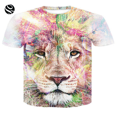 Incredible 3D Print Lion & Tiger Tees - Purrfect Apparel