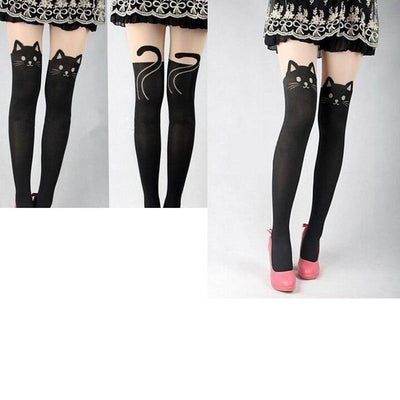 Black Cat Tights - Purrfect Apparel