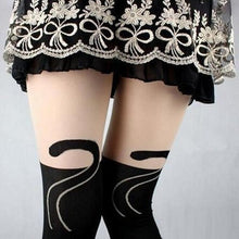 Load image into Gallery viewer, Black Cat Tights - Purrfect Apparel