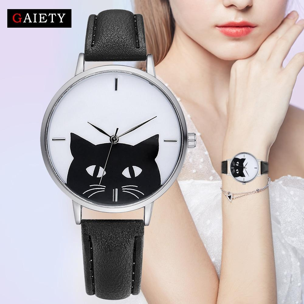 Luxury Quartz Black Cat Watch from Gaiety - Purrfect Apparel