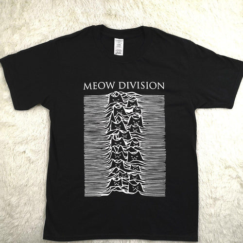 'Unknown Pleasures' Meow Division Tee - Purrfect Apparel