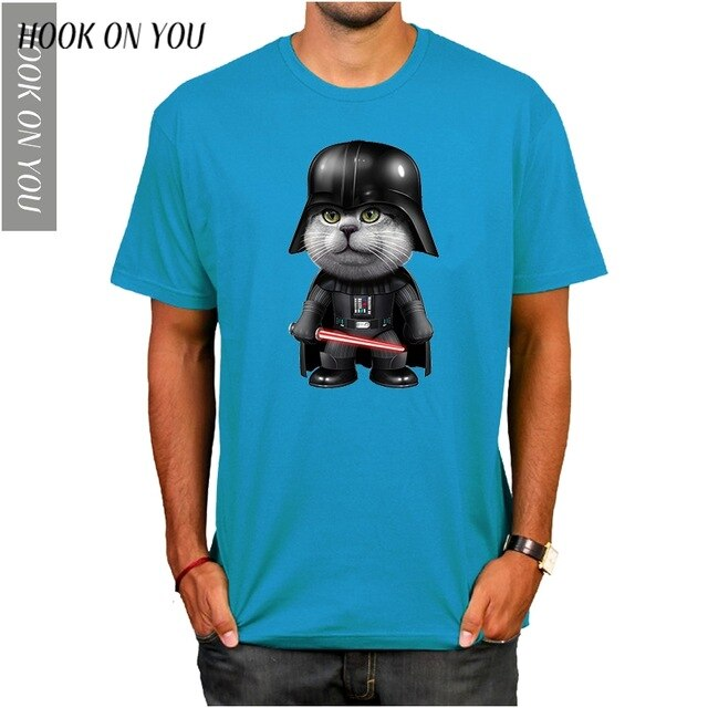 Cat Wars Darth Cat Tee - Purrfect Apparel