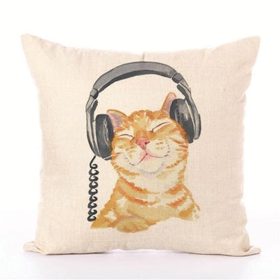 Simple soft cat style linen Pillow cover Home room hotel quality cat Decorative Pillowcase Bedding  hot animal pillow cover - Purrfect Apparel
