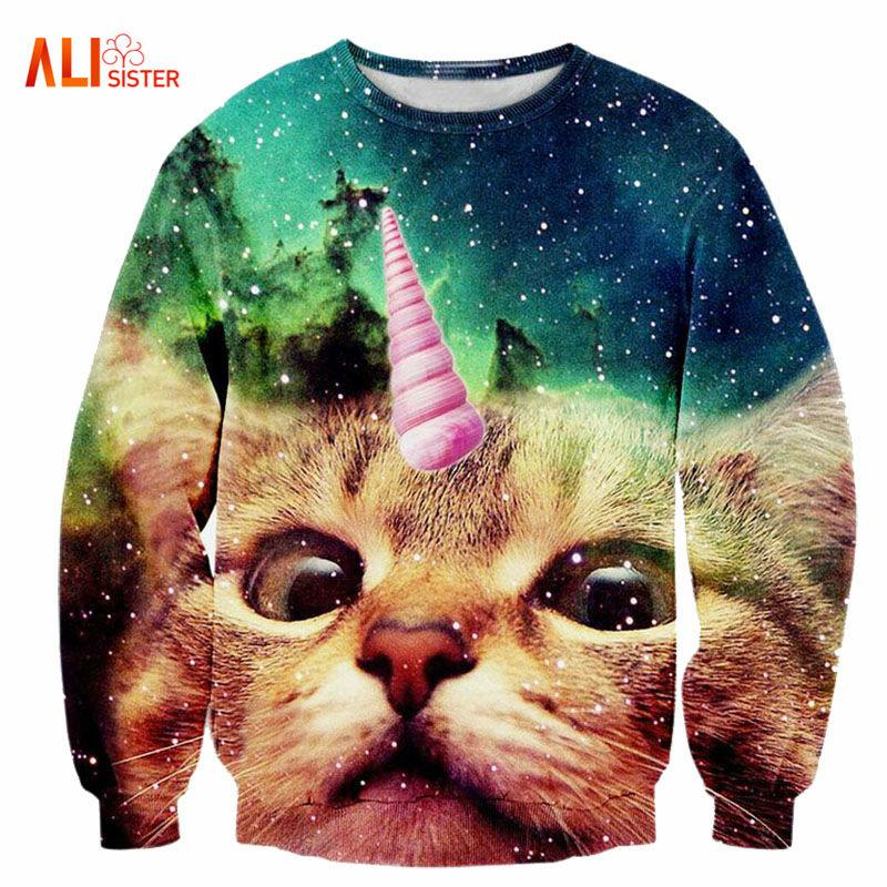 Surreal Cat Sweatshirt Collection - Purrfect Apparel