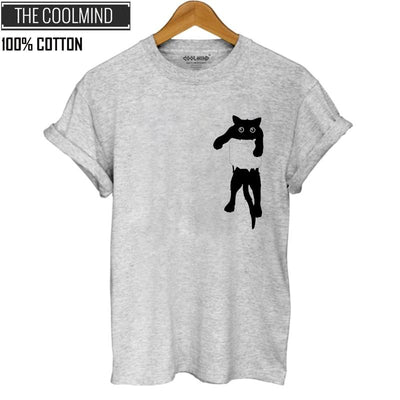 100% Cotton Cat T-Shirt from The Cool Mind - Purrfect Apparel