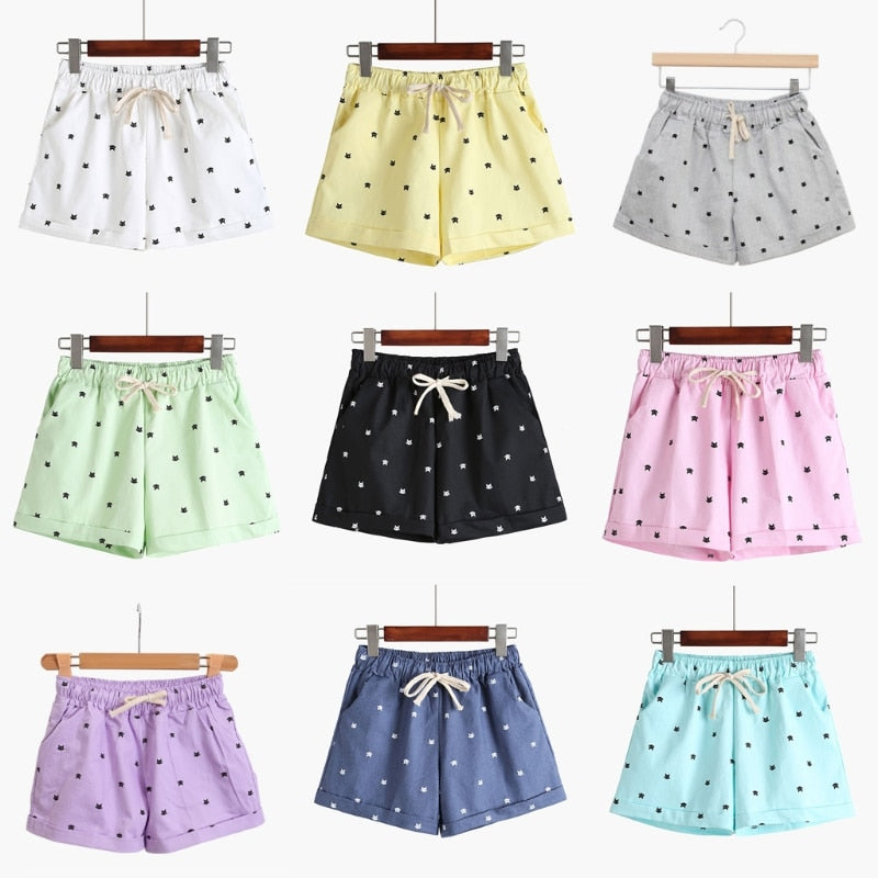 Cat Print Summer Shorts - Purrfect Apparel