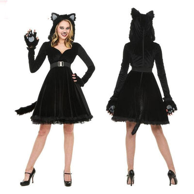 WOMEN'S BLACK CAT COSTUME - Purrfect Apparel