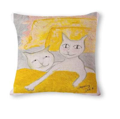 Cartoon Cat Pillow Throws - Purrfect Apparel