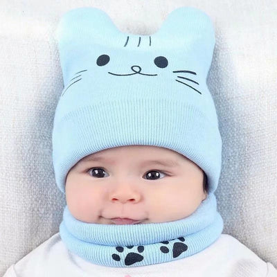 Cat Hat and Scarf for Babies - Purrfect Apparel