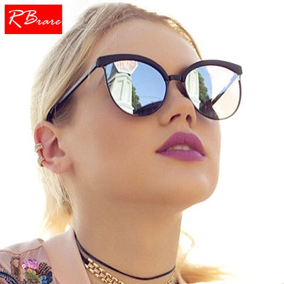 Luxury Mirrored Lens Cat Eye Sunglasses - Purrfect Apparel