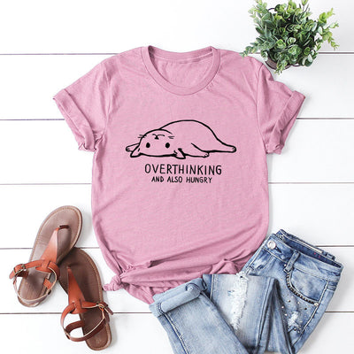 Overthinking Cat T-Shirt - Purrfect Apparel