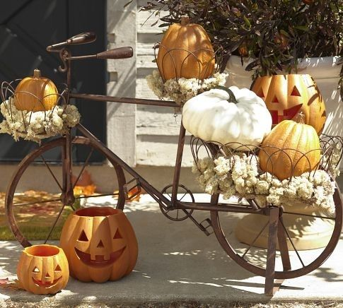Halloween bike decoration