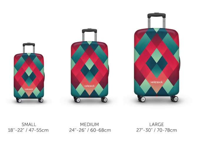 Velosock luggage cover sizes