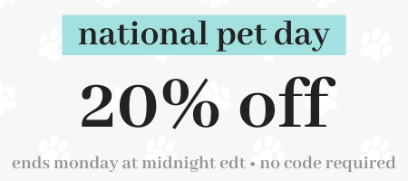 National Pet Day 20% Off