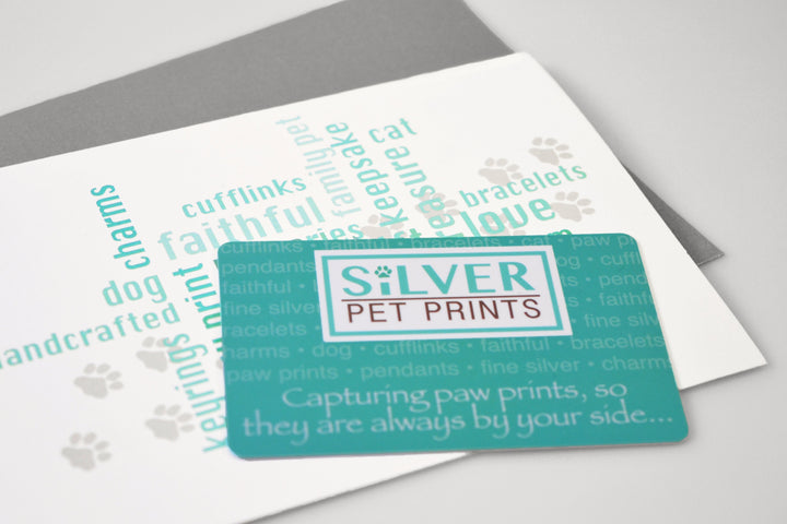 Paw print jewelry gift card