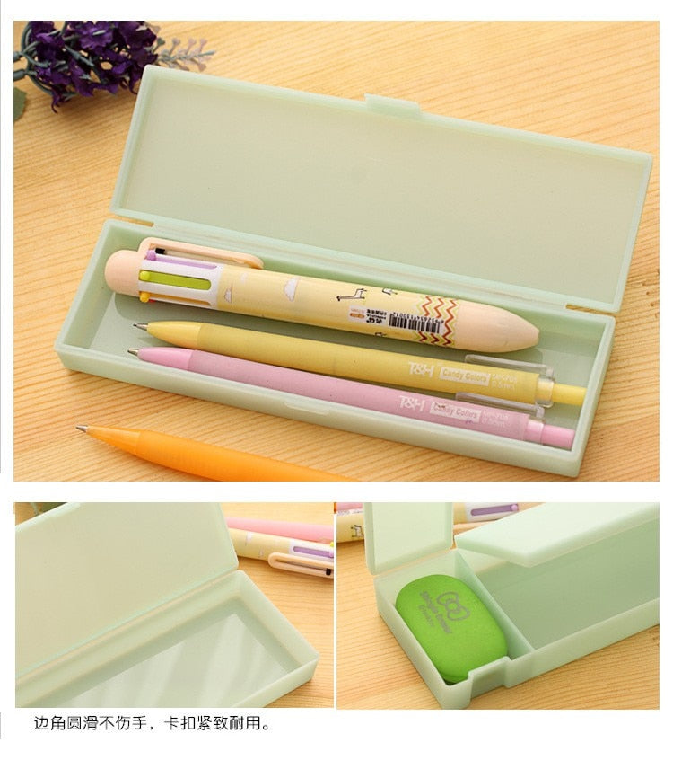 Muji Style Transparent Pencil Case Box