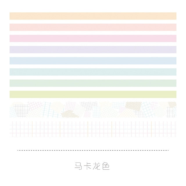 10pcs/set Cute Basic color Washi Tape