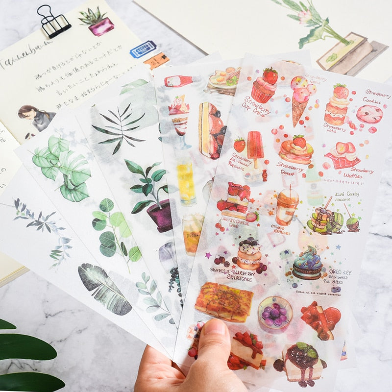 Scrapbook/Bujo Sticker Sets - pick your design - 3pcs/set