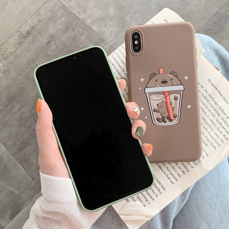 New Cute Boba Phone Case For iPhone