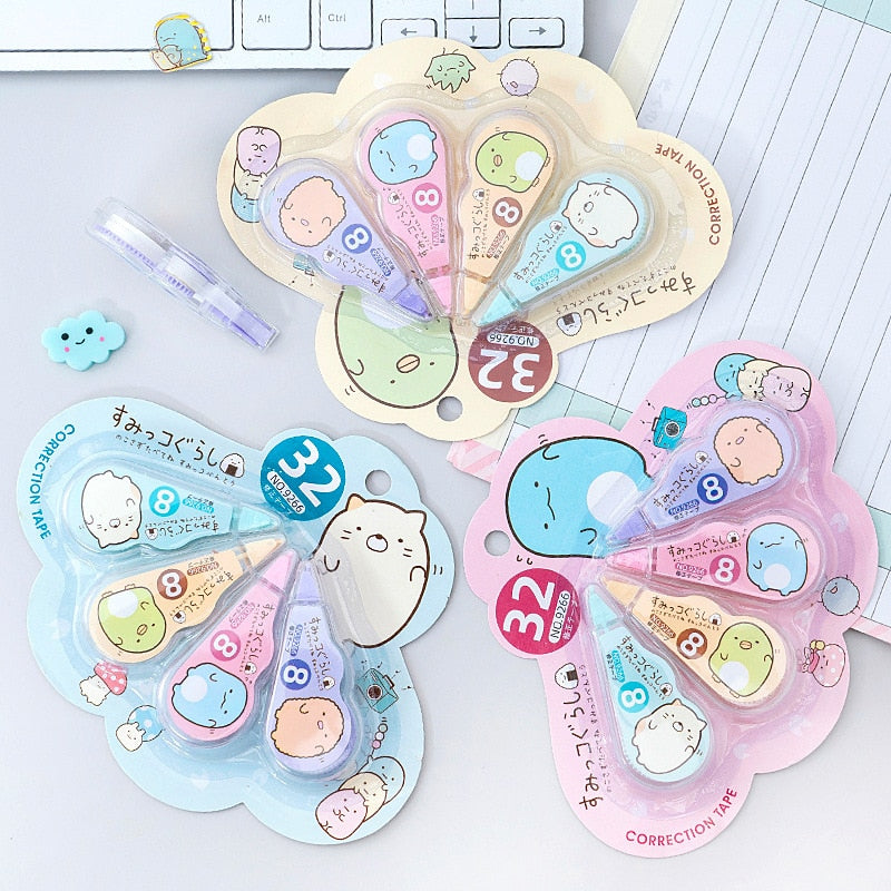 4 pcs/pack Kawaii Sumikko Gurashi Correction Pens