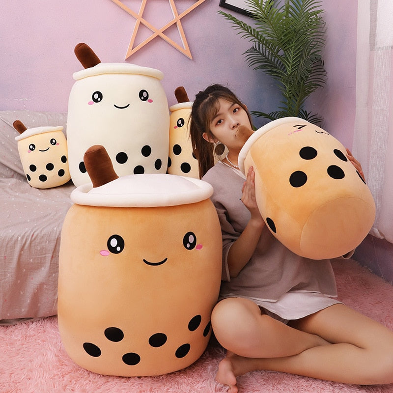 Kawaii Boba Tea Plush Pillow