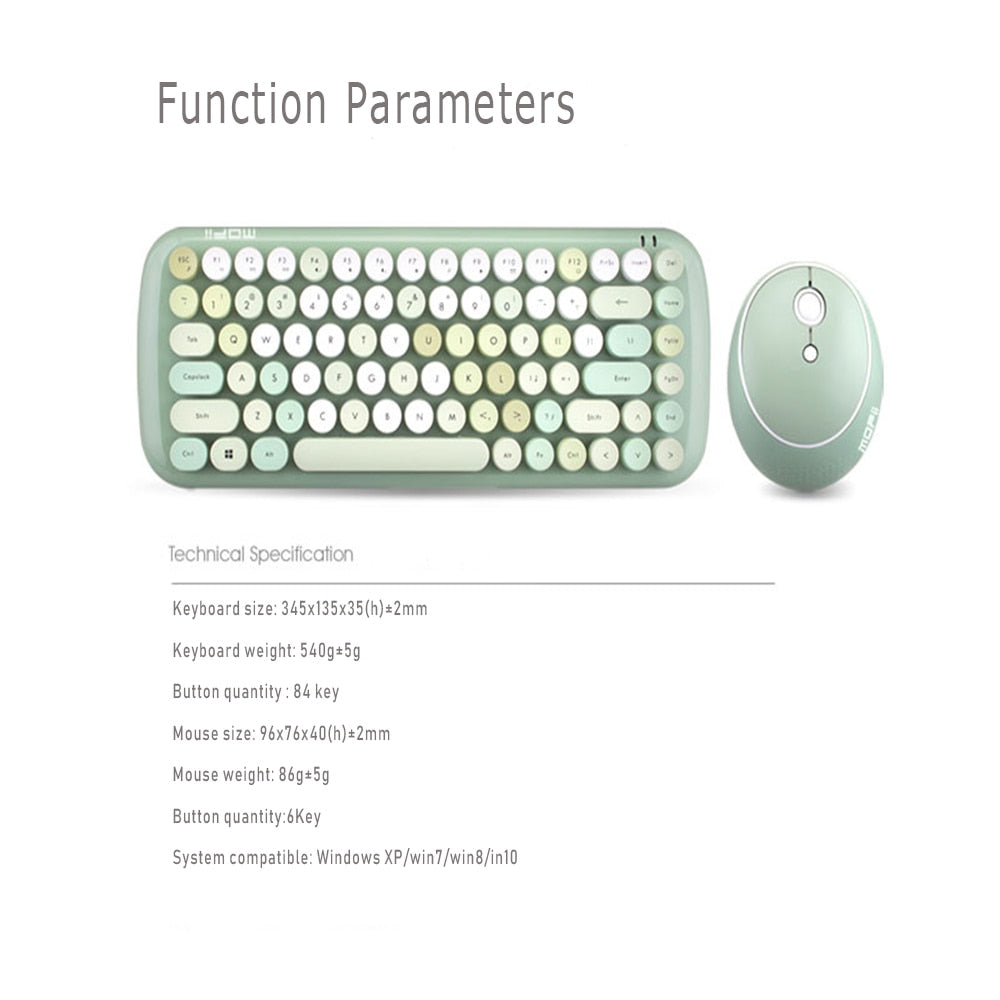 Wireless Keyboard & Mouse Set - different colors available