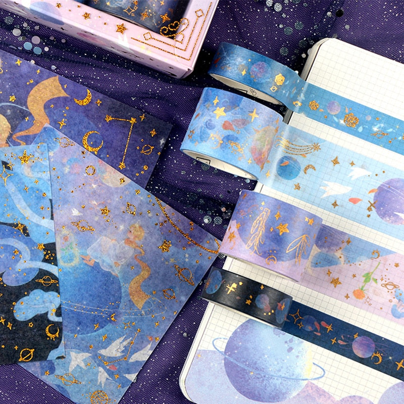 20pcs Starry Washi Tape and Sticker Set - Limited Edition