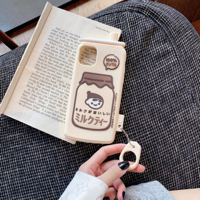 Milk Bottle Phone Case For iPhone