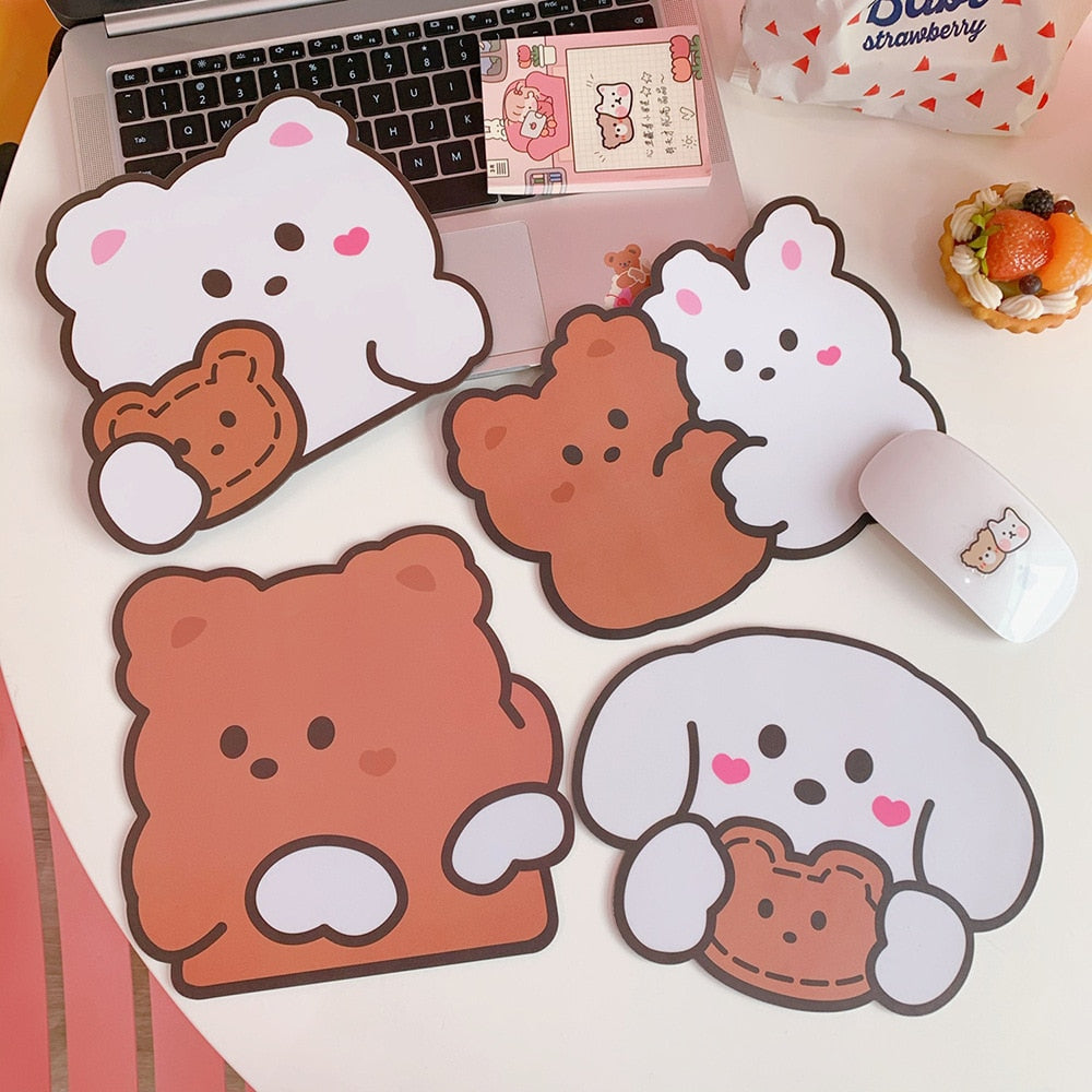 Kawaii Bear Mouse Mat