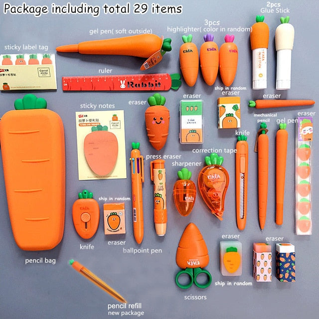 The Creative Carrot Series - Full Stationery Set