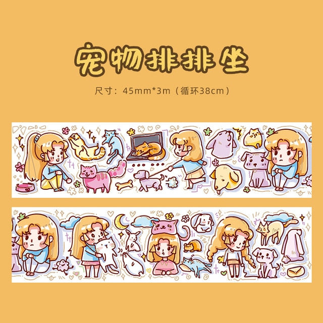 Kawaii Girl Washi Tape