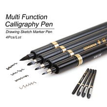 Load image into Gallery viewer, 4 pc Multi Function Calligraphy Pen Set