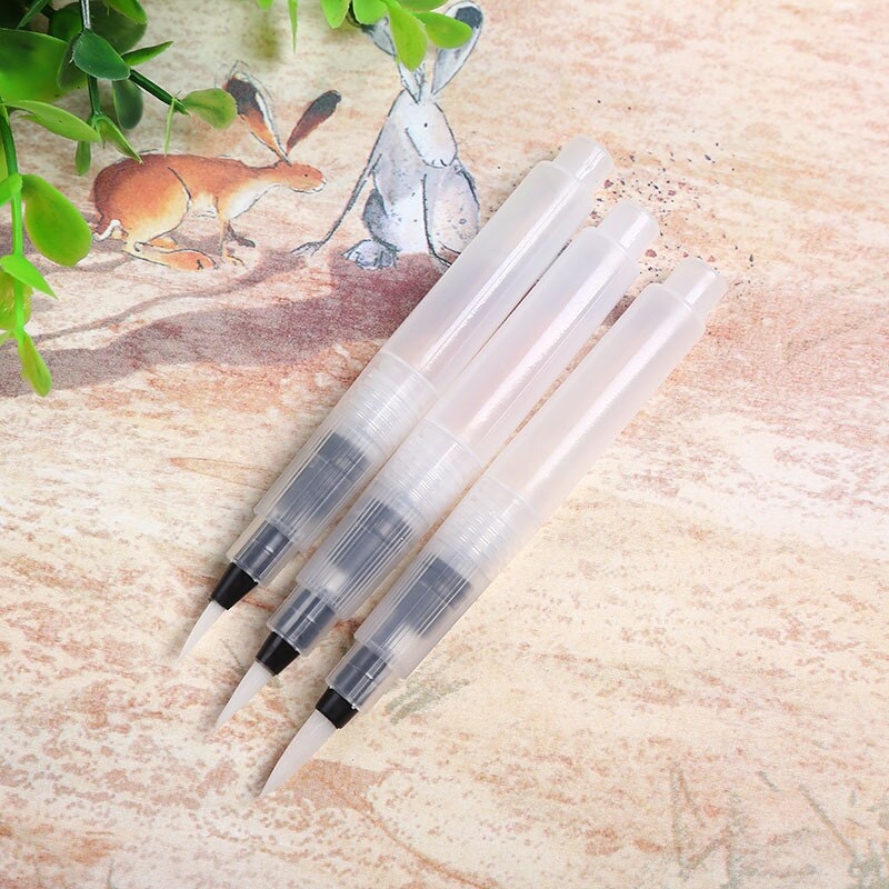 Refillable 3 Pc Water Brush Ink Pens