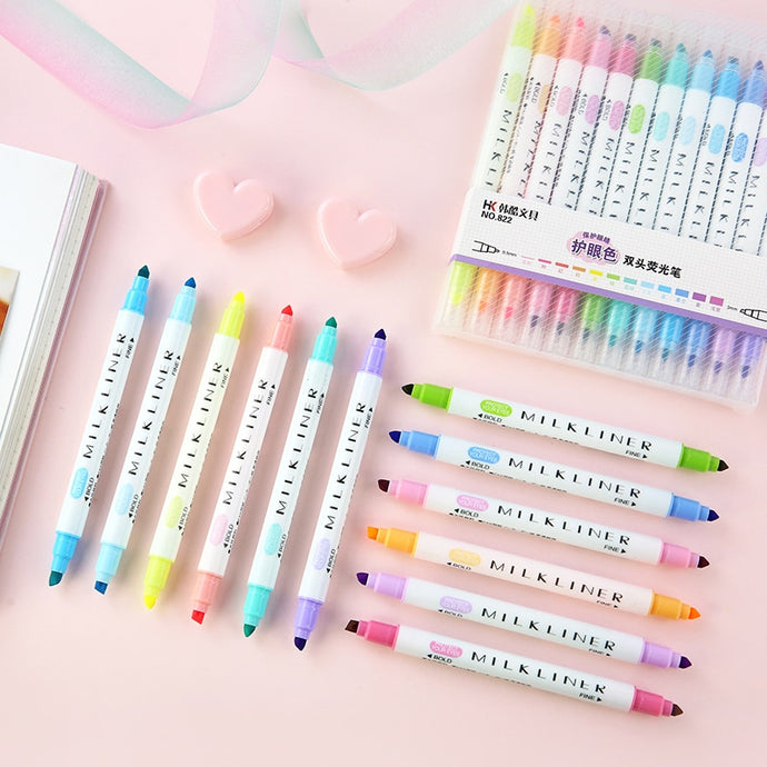 12pcs/set 'Mildliner' Style Highlighter Pens