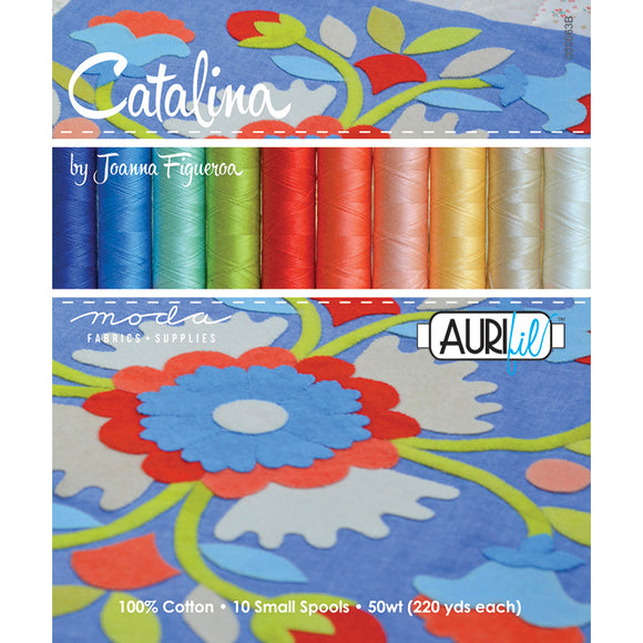 Catalina Aurifil Thread Set 10 Small Spools by Fig Tree and Co