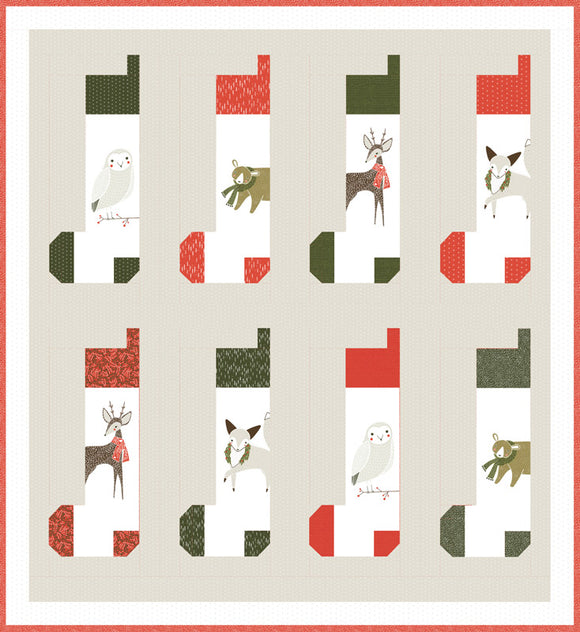 Merriment by Gingiber Stocking Kit Boxed by Moda