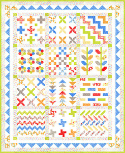 Figs and Shirtings Kit - Stitchery Sampler by Fig Tree and Co for Moda Kit 20390