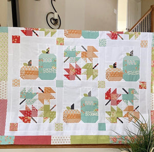 Farmhouse Fall Quilt Kit (pattern by Erica Arndt sold separately) Lighter Blues