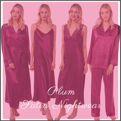 Matching Mulberry Full Length Nightwear