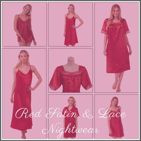 Red Satin Nightwear Collection