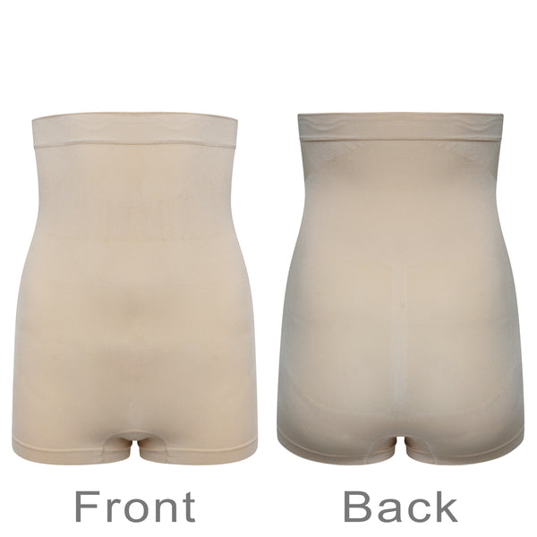 High Waist Control Shorts Anti Roll Silicone Grips Seamless Shapewear Nude