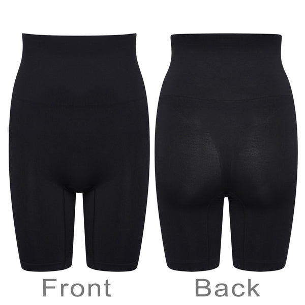 Thigh Control Shorts High Waist Cincher Seamless Shapewear Black