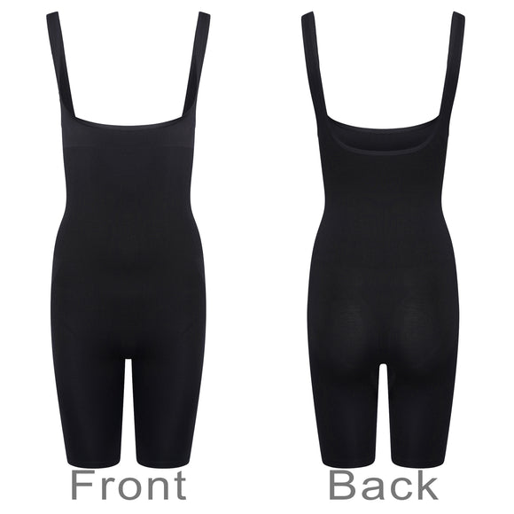 Control Full Body Shorts Suit Waist Cincher Seamless Body Shaper Black