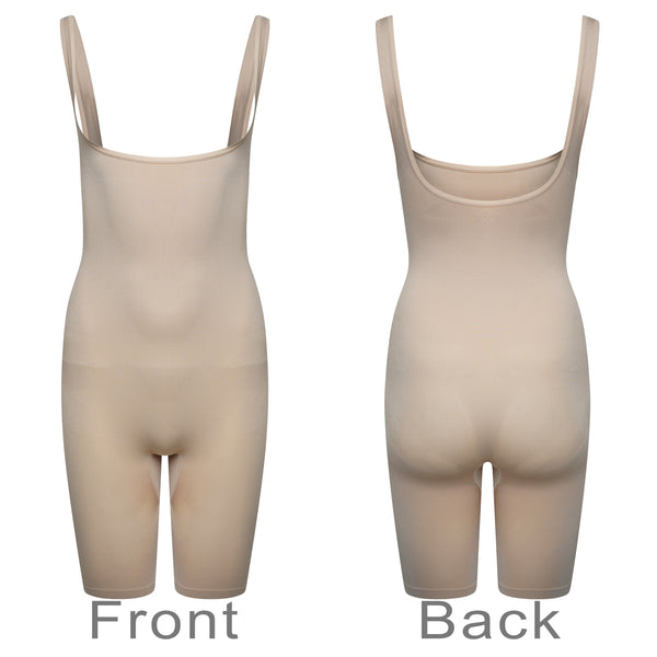 Control Full Body Shorts Suit Waist Cincher Seamless Body Shaper Nude